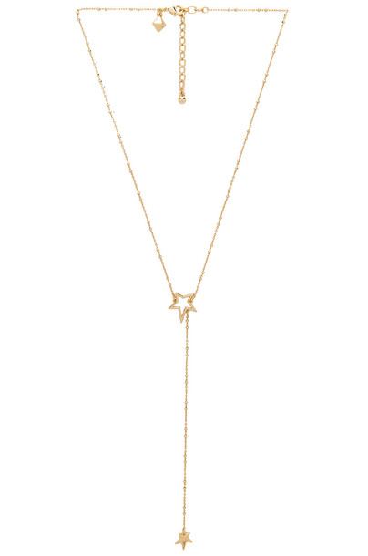 Rebecca Minkoff rock necklace metallic gold jewels
