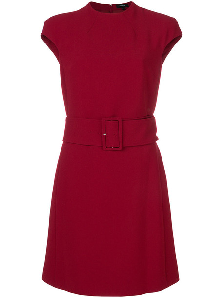 theory dress belted dress women spandex red