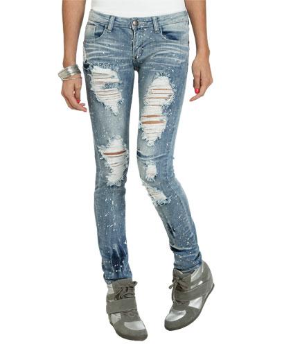 Paint splatter destroyed jean