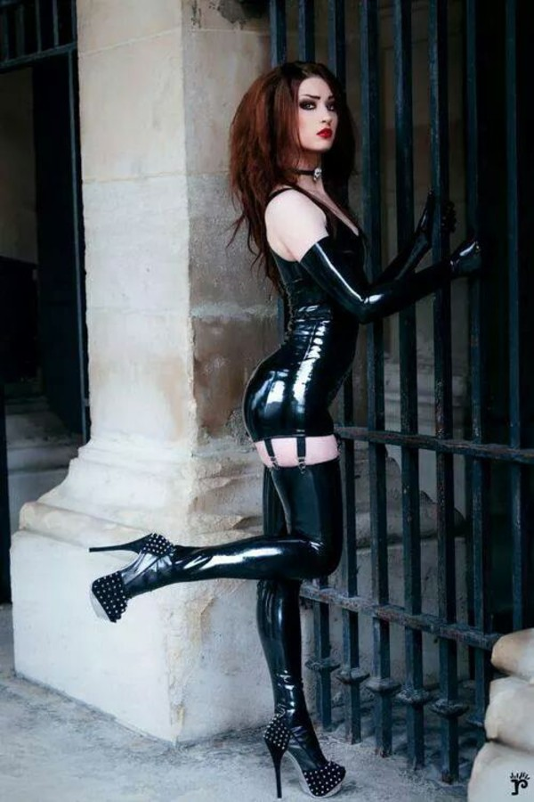 shoes pvc goth wet-look