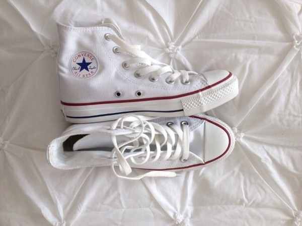 shoes white sneakers converse high top sneakers white high tops