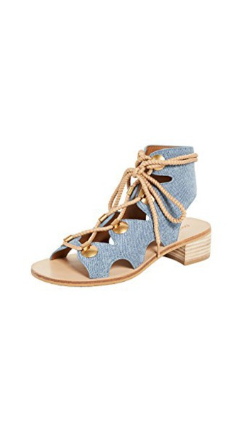 See by Chloe sandals denim shoes