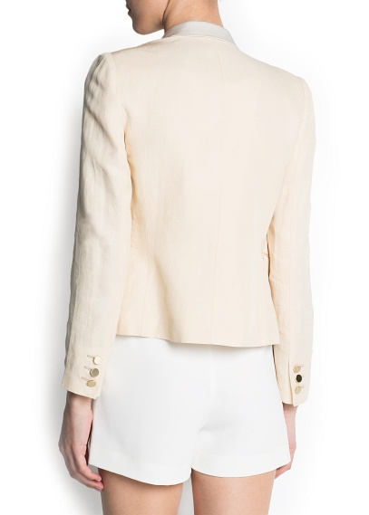 MANGO - NEW - Satin lapels double-breasted blazer