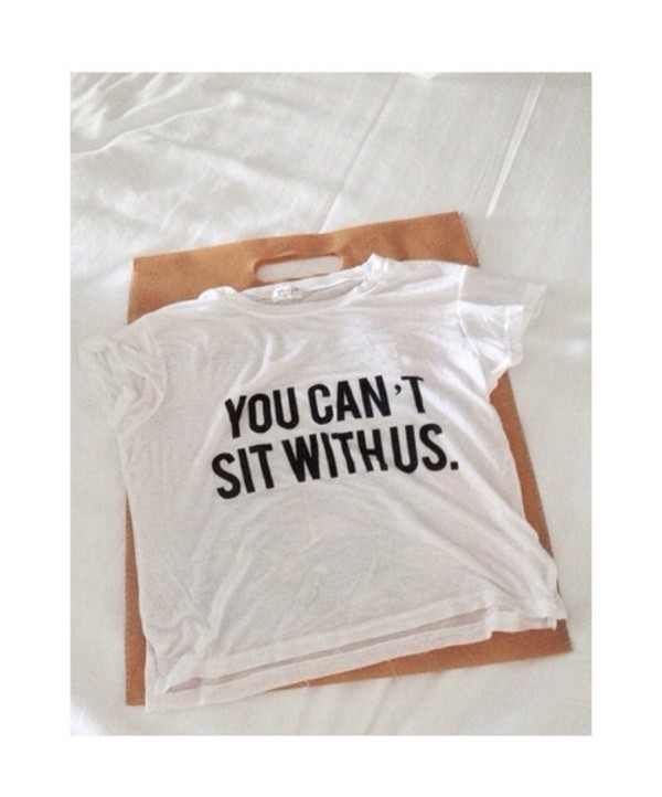 t-shirt you cant sit with us mean girls on wednesdays we wear pink