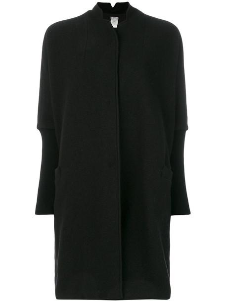 Kristensen Du Nord coat oversized women cotton black wool