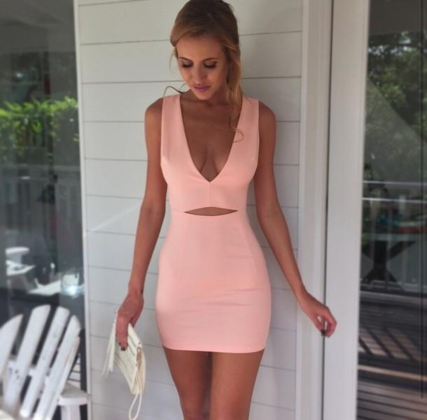 Pink and Black Maxi Dress