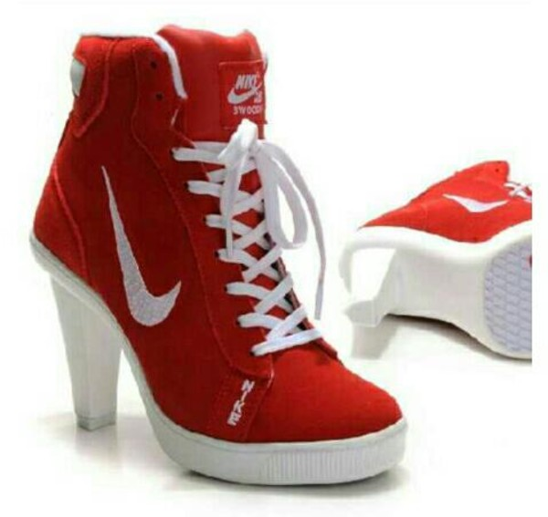 shoes nike nike shoes nike sneakers red high heels cool sporty sporty lovely wanted cute medium heels chick heels sexy shoes