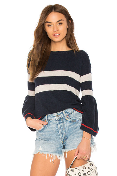 Autumn Cashmere sweater striped sweater navy