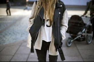 jacket leather vest leathervest black chik fashion style streetstyle