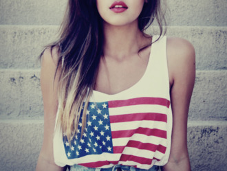 tank top high waisted shorts top america