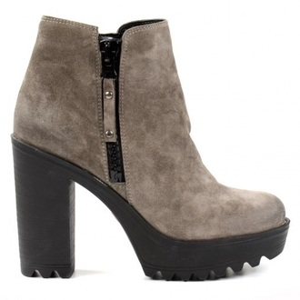 shoes heels taupe grey fashion