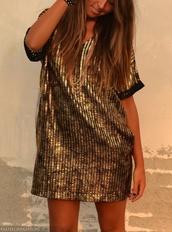dress,gold,gold sequins,sequins