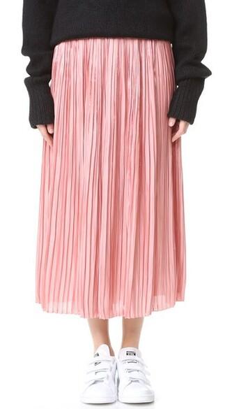 skirt pleated skirt pleated peach