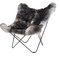 Butterfly chair shorn grey - living furniture ab || living furniture ab