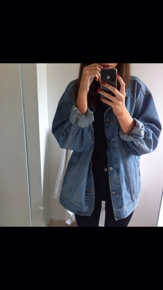 jacket blue jacket+ blue jacket denim jacket girly grunge girl jacket