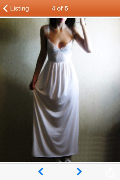 white white dress ivory dress long prom dresses lace dress wedding dress maxi dress summer dress corset