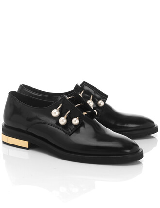 shoes leather black black leather