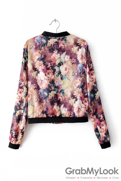 Oil Painting Vintage Flower Floral Satin Long Sleeves Rider Jacket [AP-CAR-OILPSATINFLO-JKT] - $49.99 : GrabMyLook, Trendy Street High Fashion Shop for Womens and Mens Clothings - Free Shipping & Returns