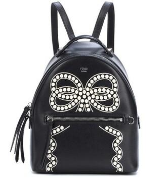 mini embellished backpack leather backpack leather black bag