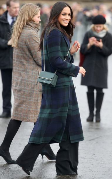 coat plaid meghan markle fall outfits