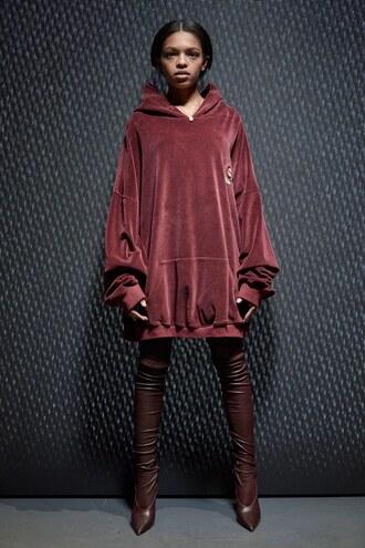 sweater hoodie oversized nyfw 2017 fashion week 2017 boots yeezy
