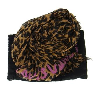 Authentic Louis Vuitton Leopard Scarf Stall Brown Black Silk Vintage RK06064 | eBay