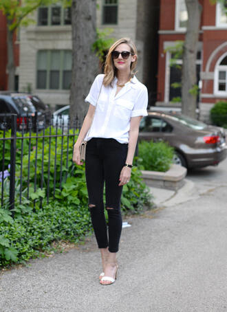 see anna jane blogger blouse jeans shoes