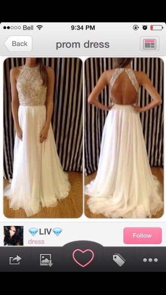 prom dress prom dress, white, backless, dress