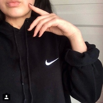 sweater black nike grunge soft alternative indie fashion outfit style soft grunge sweatshirt aesthetic girl indie rock clothes hoodie