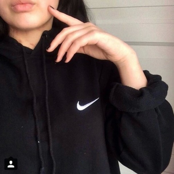 sweater black nike grunge soft alternative indie fashion outfit style soft grunge. Black Bedroom Furniture Sets. Home Design Ideas