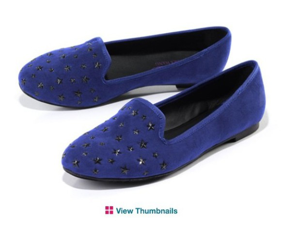 shoes flats stars suede