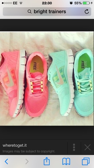 shoes bright color trainers nike running shoes