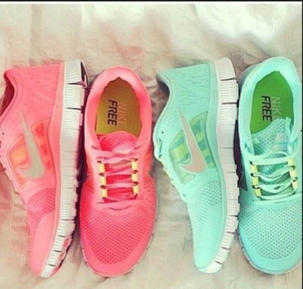 shoes bright colorful trainers nike running shoes