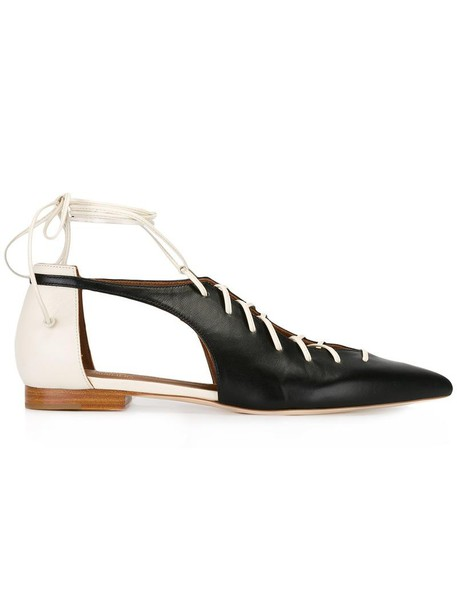 MALONE SOULIERS women lace leather black shoes