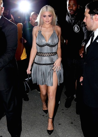 dress mini dress ny fashion week 2016 kylie jenner pumps kardashians
