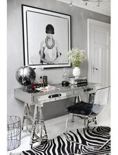 stylista,blogger,frame,zebra print,home accessory,home decor,chair,silver,desk