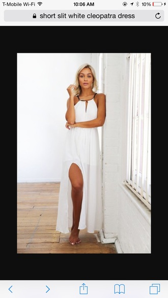 dress white slit dress white dress cleopatra dress