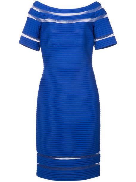 Tadashi Shoji dress women spandex blue