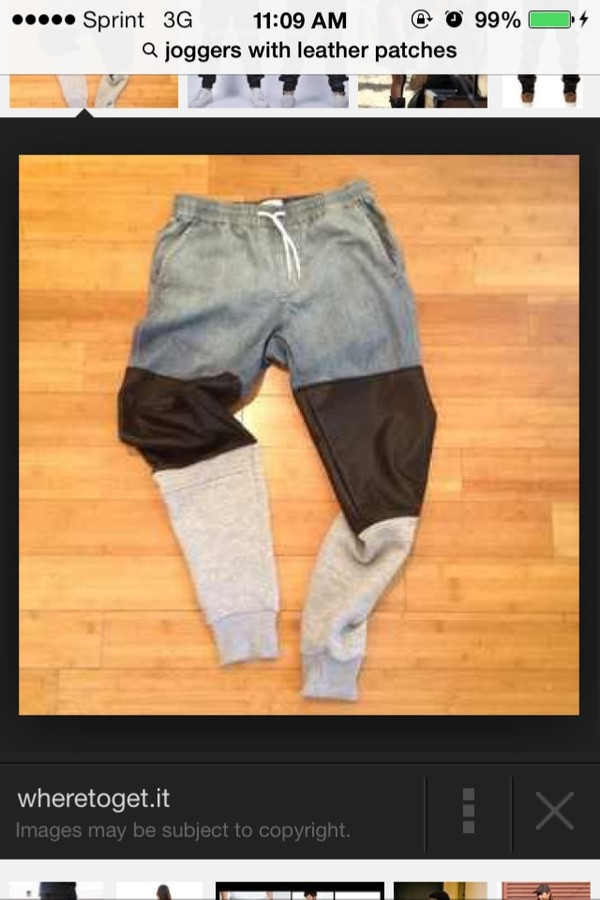 jeans leather joggers