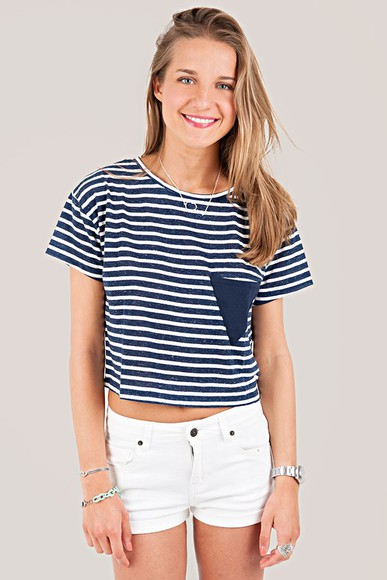 stripes blue and white striped clothes crop tops subdued