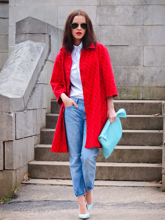 bittersweet colours coat jeans shoes shirt bag sunglasses