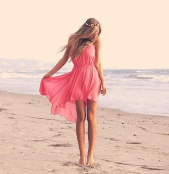 dress sweet high low dress girly