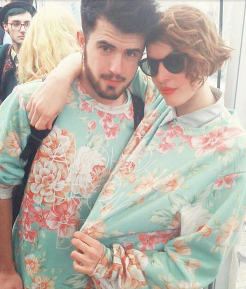 roses print floral sweater lovers floral menswear hipster