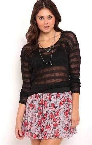 Sequin mini skirt with elastic waistband