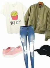shirt,friday,fries,quote on it,cute