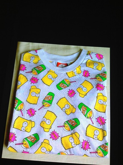 simple t-shirt tshirt the simpsons bart bart simpson cheap