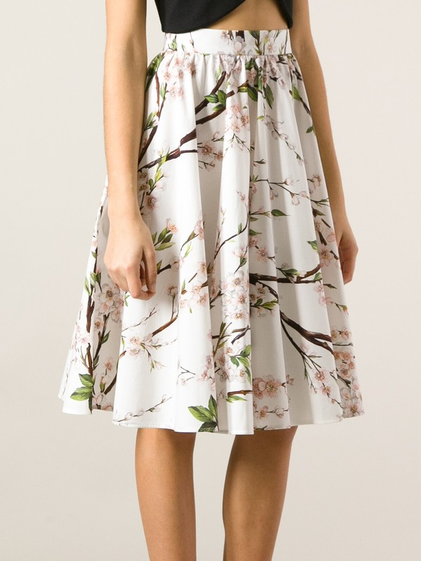 skirt floral printed skirt a-line skirt dolce and gabbana