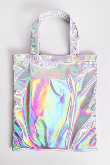 bag tote bag holographic bag holographic