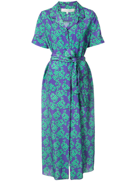 Borgo De Nor dress midi dress women midi floral purple pink