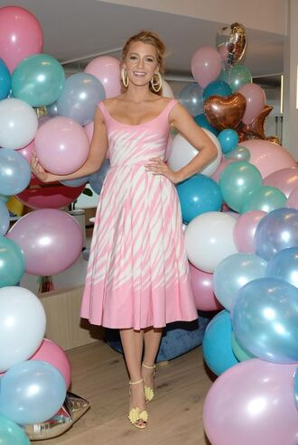 dress sandals midi dress blake lively pink pink dress shoes
